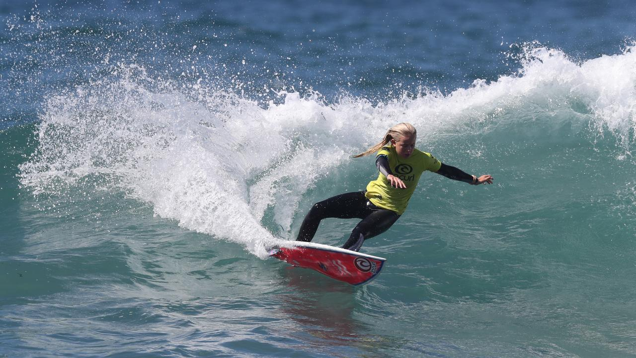 WHISTLING NIXIE: Lennox Head shredder Nyxie Ryan is hoping for a podium finish at the the 2019 Rip Curl GromSearch National Final at Sydney's Maroubra Beach.