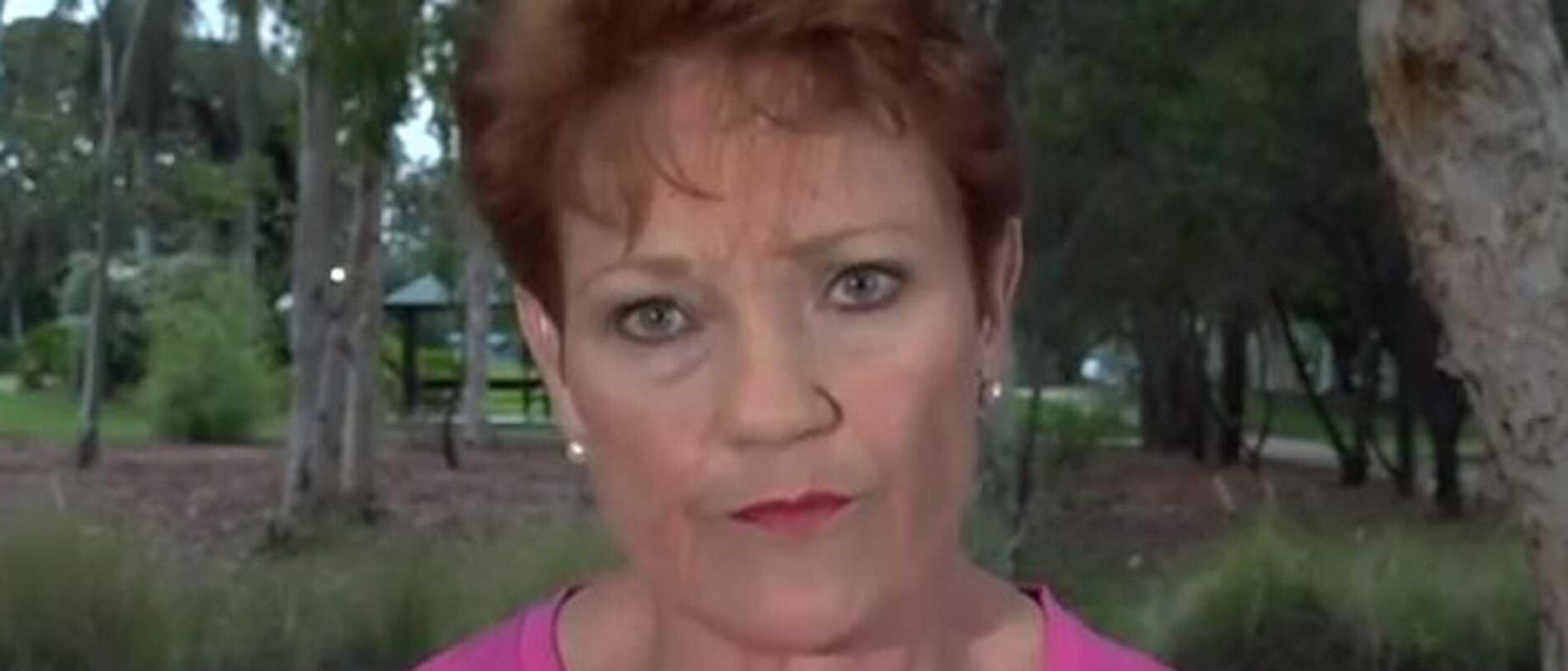 Pauline Hanson on Today. Picture: Nine