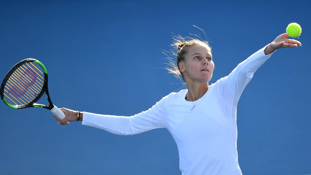 Kurdermetova had to much for the Aussie veteran. Photo: Steve Bell/Getty Images