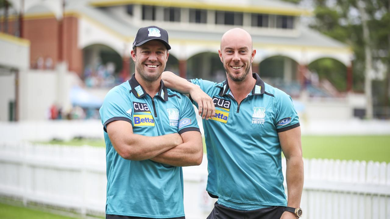 New Brisbane Heat recruit AB de Villiers and Heat captain Chris Lynn will feature in a reshuffled line-up for Tuesday's clash with Adelaide Strikers at the Gabba. Picture: AAP/Glenn Hunt