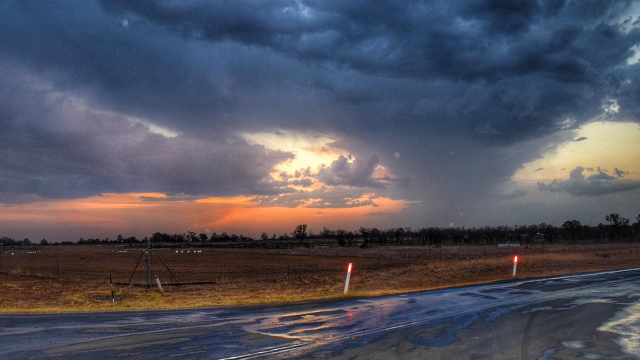 MAKE IT RAIN: Just after the storm passed at Aerodrome Road, Chinchilla. Pic: Peta McEachern