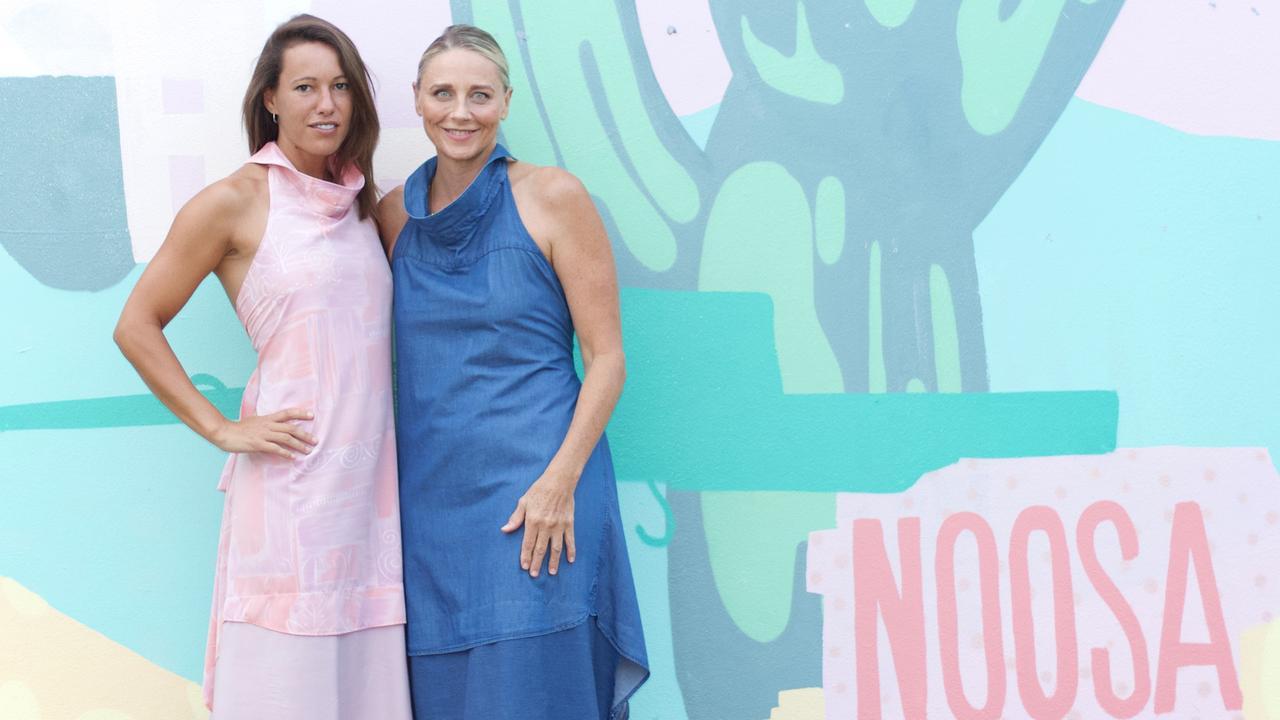 STYLE: Debra Cheyne and Rebecca Roache model the designs. Photo: Contributed