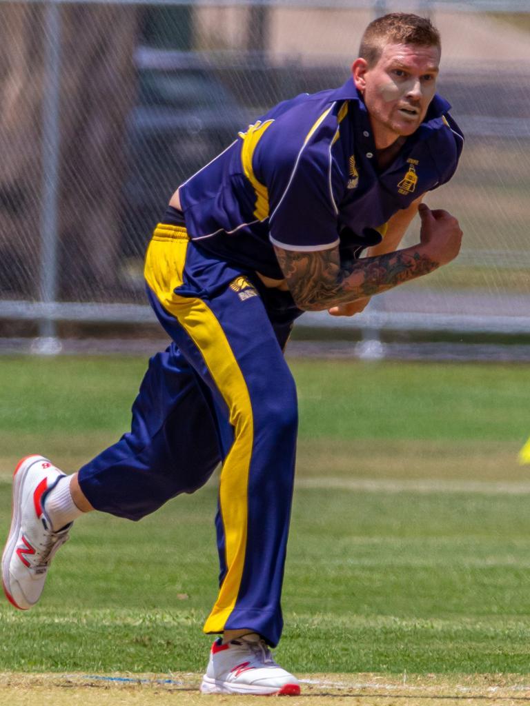 Gympie Regional Cricket Association grand opening - Gold XI v Maroochydore - Josh Brady. Photo: Zahner Photography