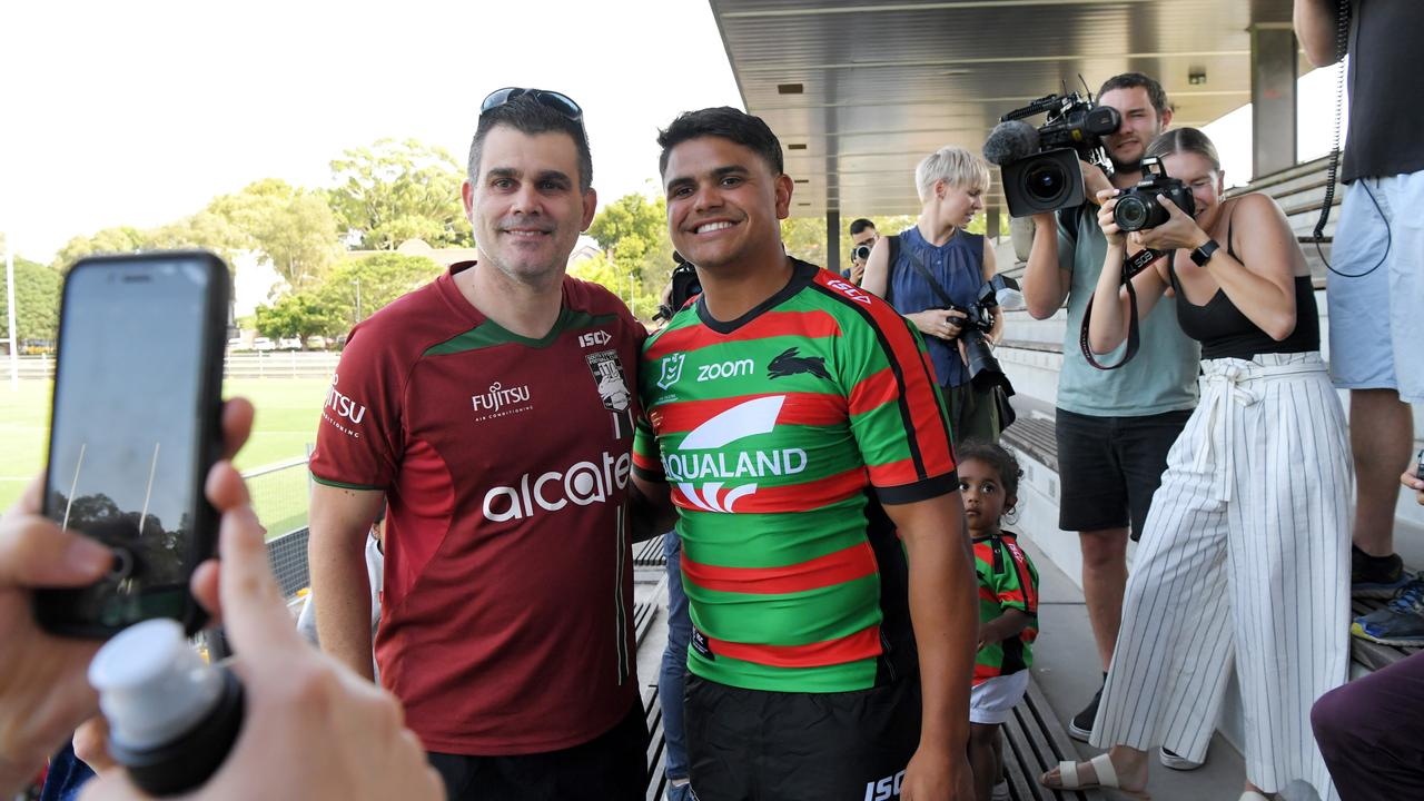 Rabbitohs fans are over the moon with their new man. Photo: Simon Bullard