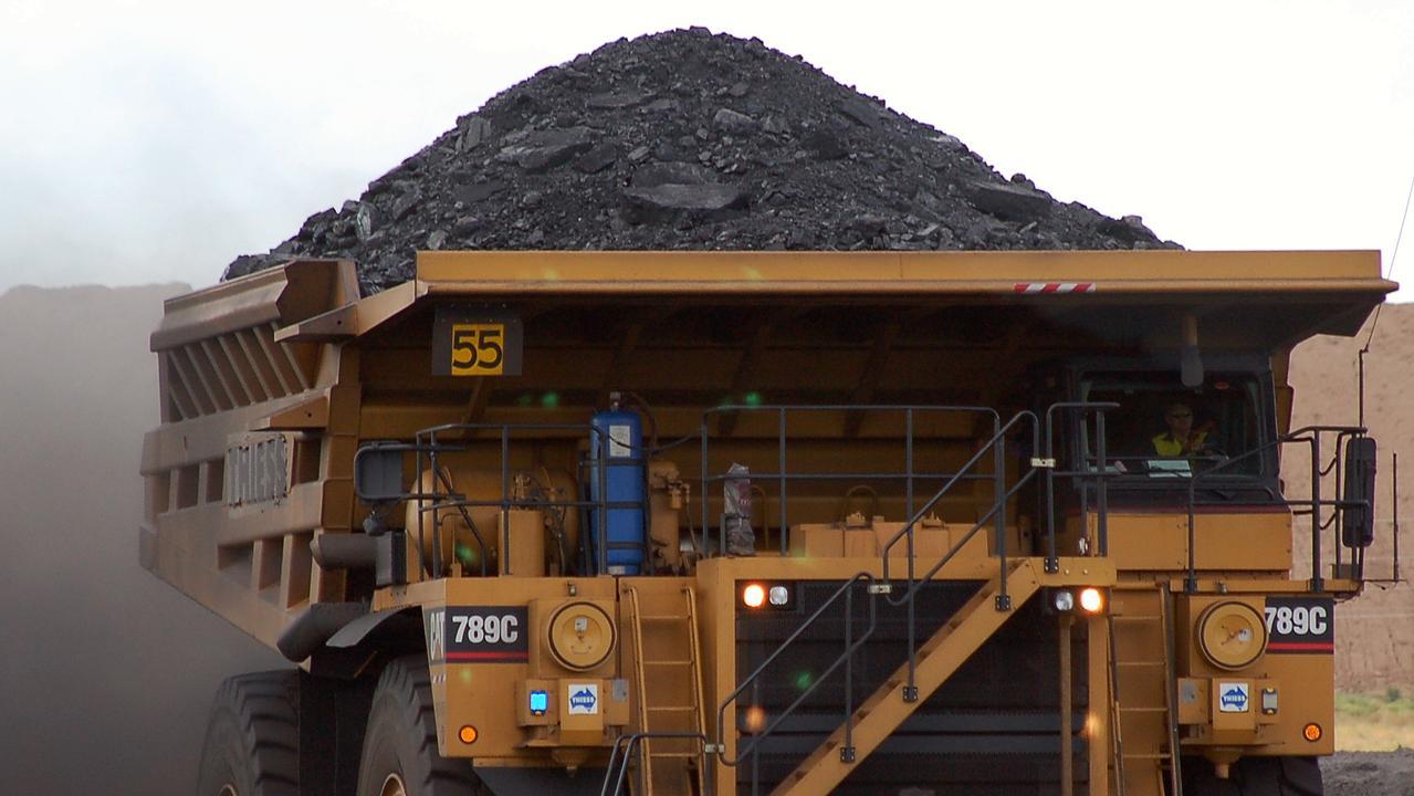 Mining truck at Coal Haul Pak, Curragh Mine, Queensland.