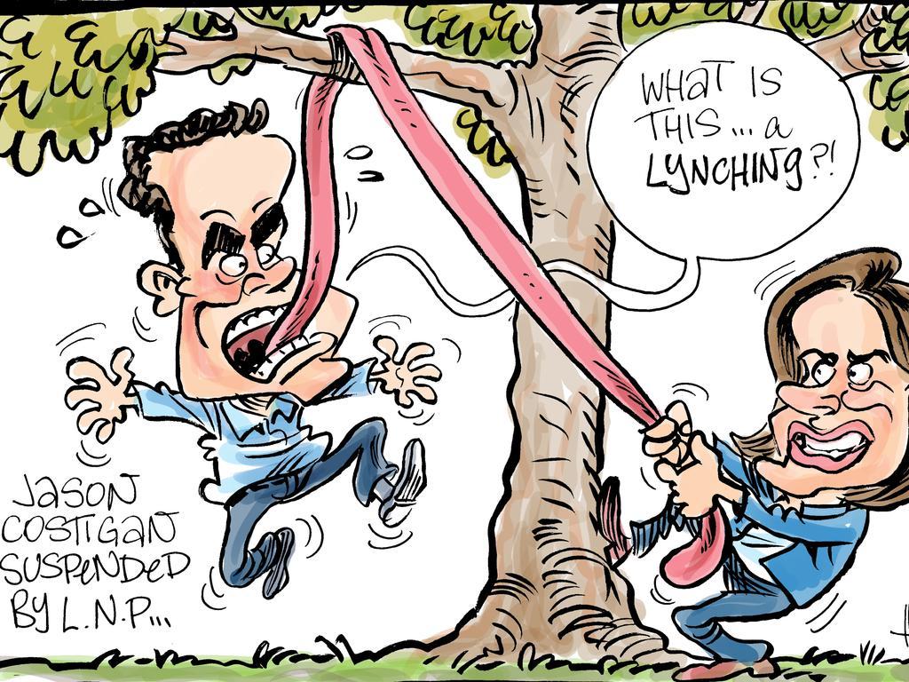 Harry Bruce's cartoon for the Daily Mercury for February 1 2019.