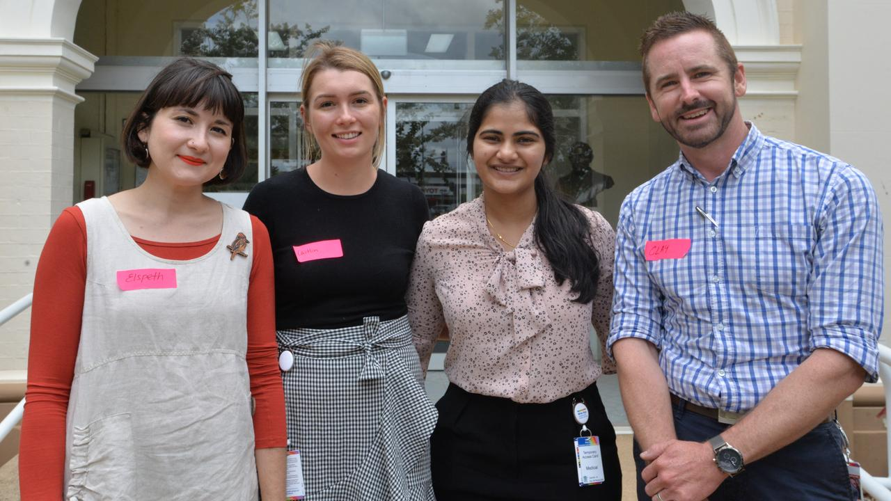 CADETS IN CARE: Elspeth Norton, Caitlin Norbury, Aishwarya Preshy and Clay Rowe are excited to start their recently appointed roles as junior doctors at Bundaberg Hospital.