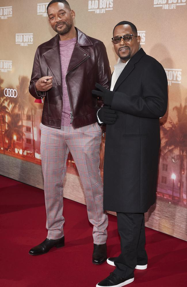 Will Smith and Martin Lawrence at the Bad Boys for Life premiere in Berlin. Picture: Sebastian Reuter/Getty Images for Sony Pictures