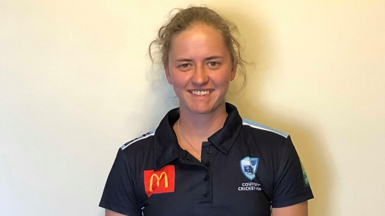 Former Grafton cricket star Naomi McDonald in her NSW Bush Breakers gear. Photo: Country Cricket NSW