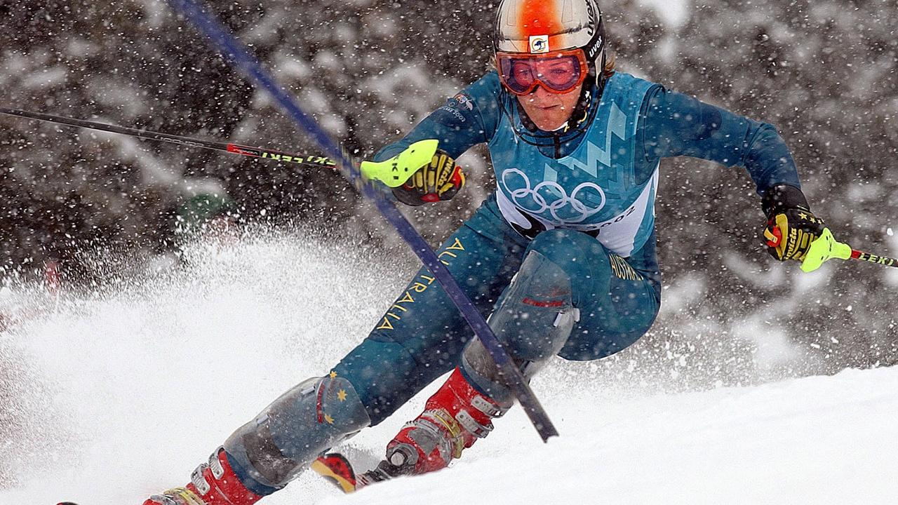 Zali Steggall competing in 2002 at the Salt Lake City Winter Olympic Games in Utah.