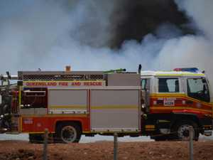 Crews rush to reports of a grassfire