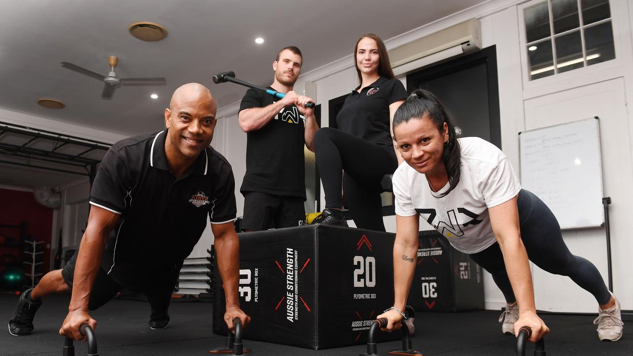 Terence Darby, Henry Jackson, Tash Baber and Fiona Buckley from Power Station Strength and Performance Gym. Picture: Tony Martin
