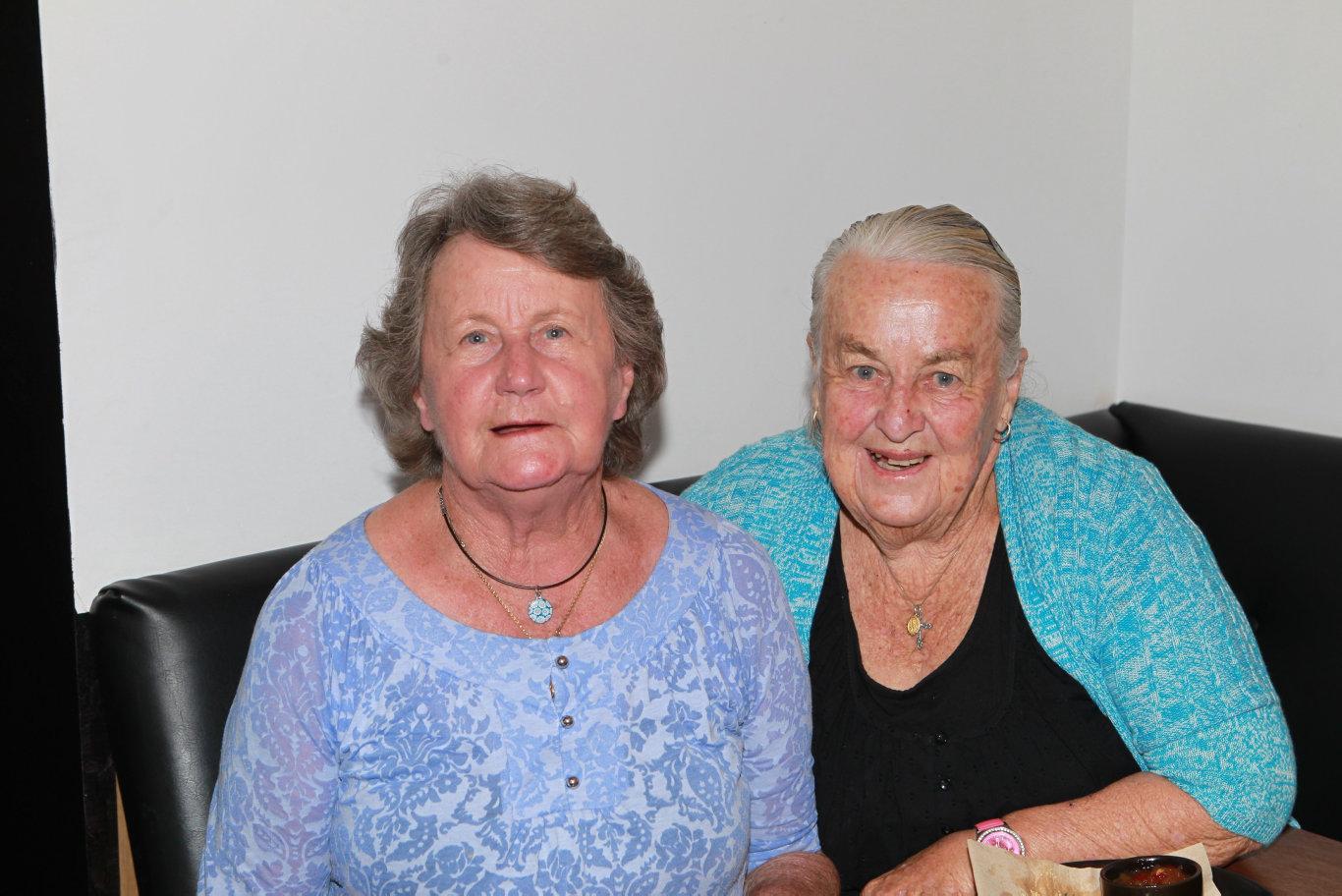 Alison Naumann and Marj Dighton a few years ago.
