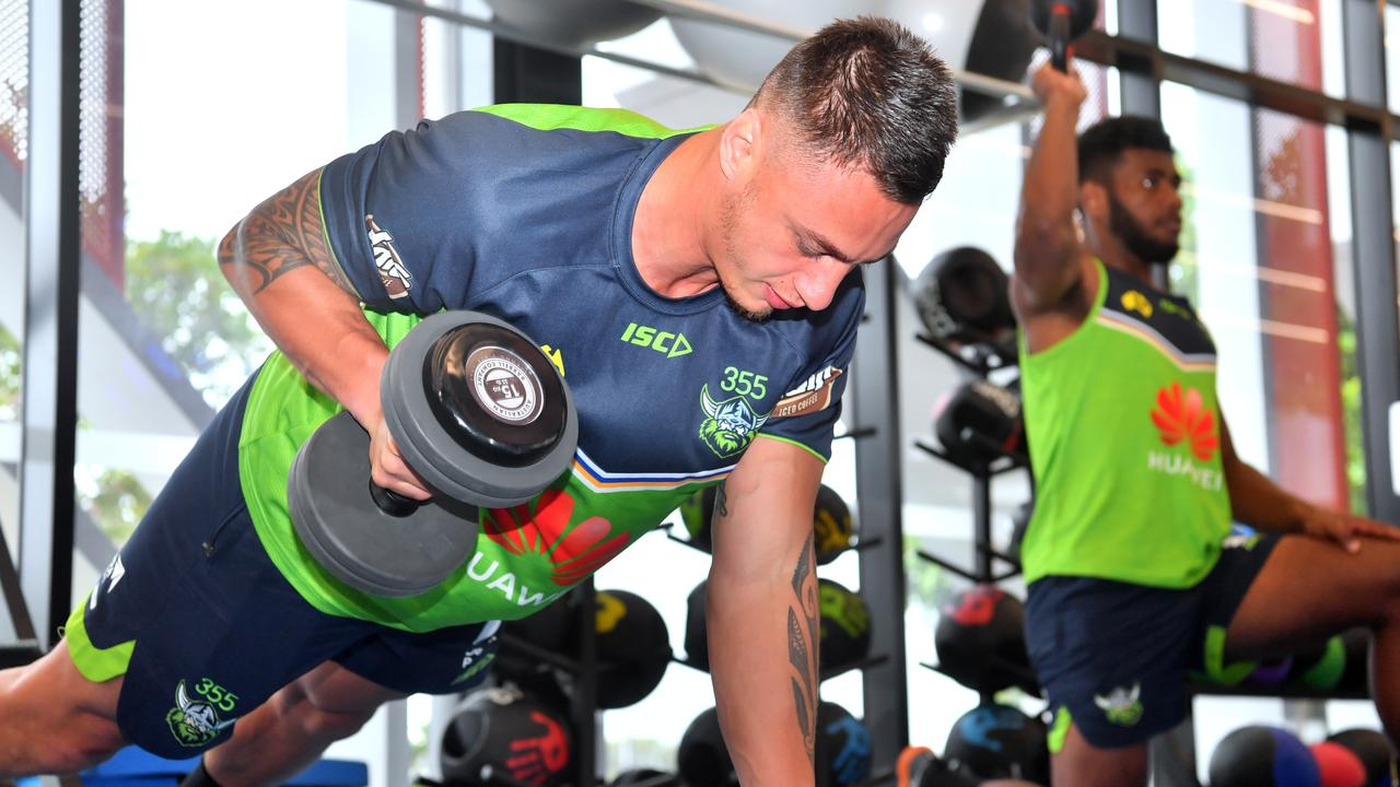 Canberra Raiders train at The Hub in Kawana. Charnze Nicoll-Klokstad. Photo: John McCutcheon / Sunshine Coast Daily