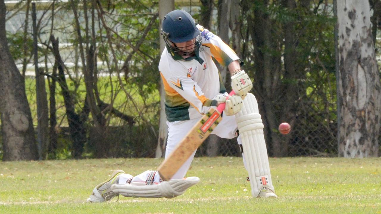 HITTING OUT: Dawson Valley Taipans player Matt Lelacheur in action at last year's Country Carnival.