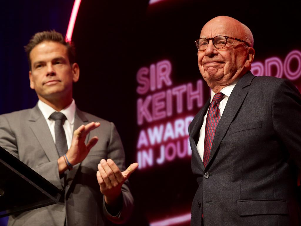 Lachlan Murdoch and Rupert Murdoch both made donations of $2 million to bushfire relief. Picture: Jonathan Ng