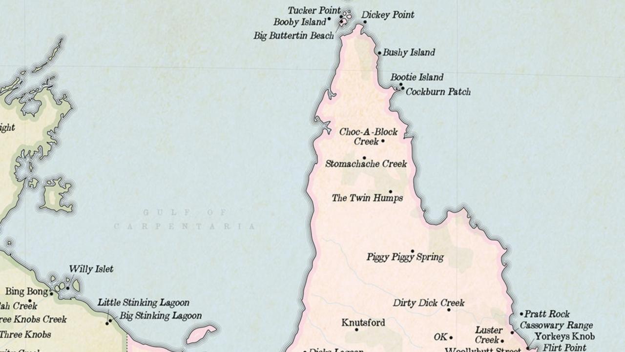 Marvellous Maps version of Queensland's northernmost tip (Source: oz.marvellousmaps.com).