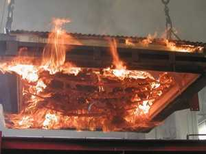 Knauf experiments with fire-resilient plasterboard