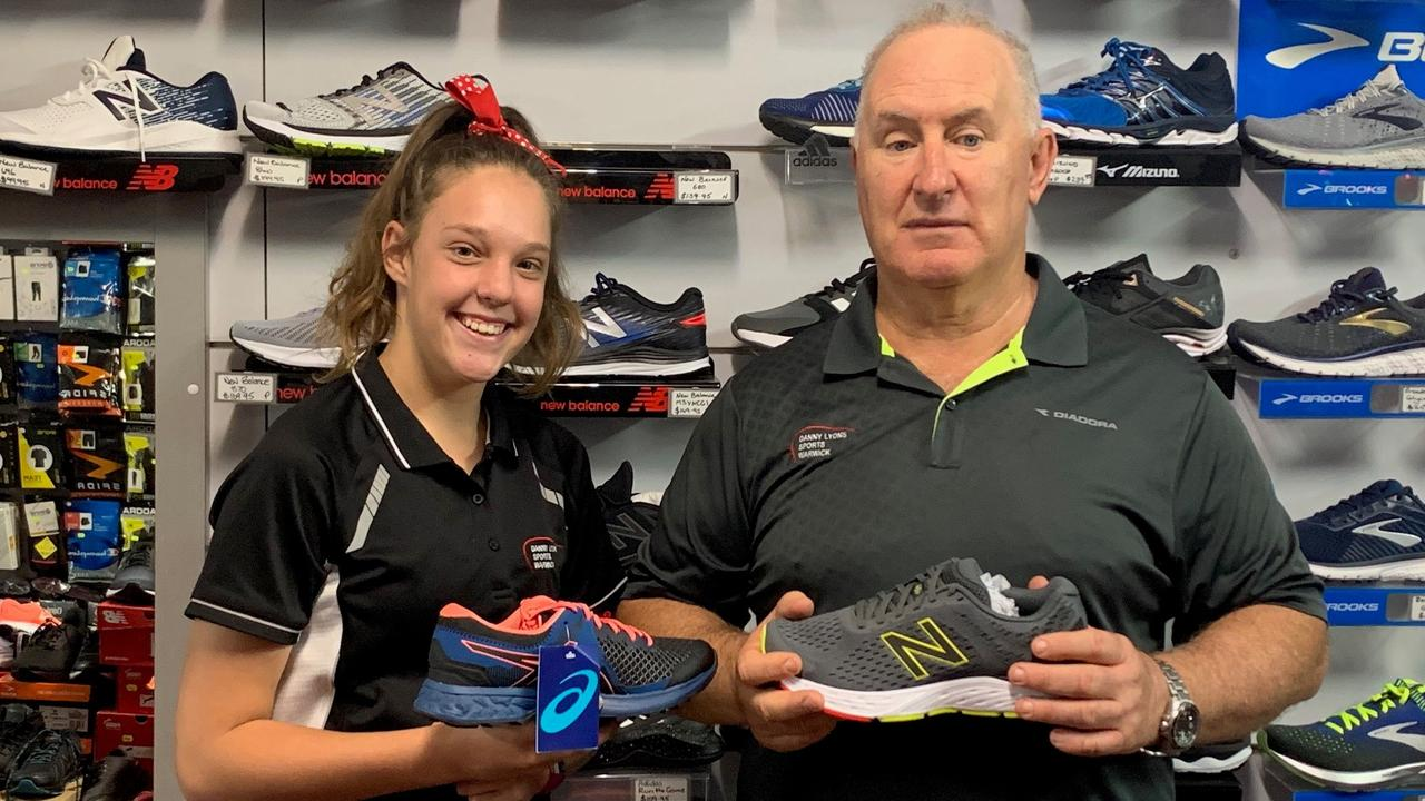 SHOES GALORE: Danny Lyons sport is stocked up and ready to go for all back to school needs.