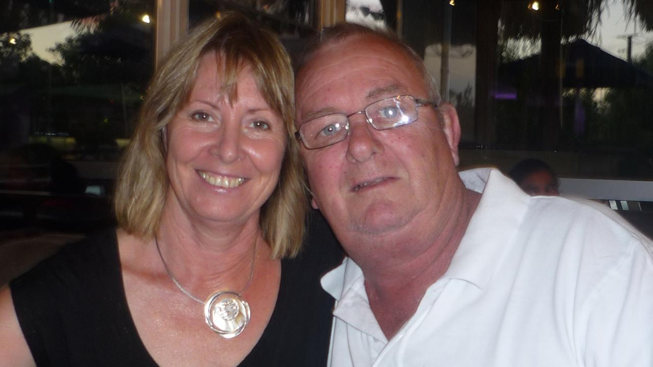 Gayle and her husband Keith Woodford . Picture: Supplied by family