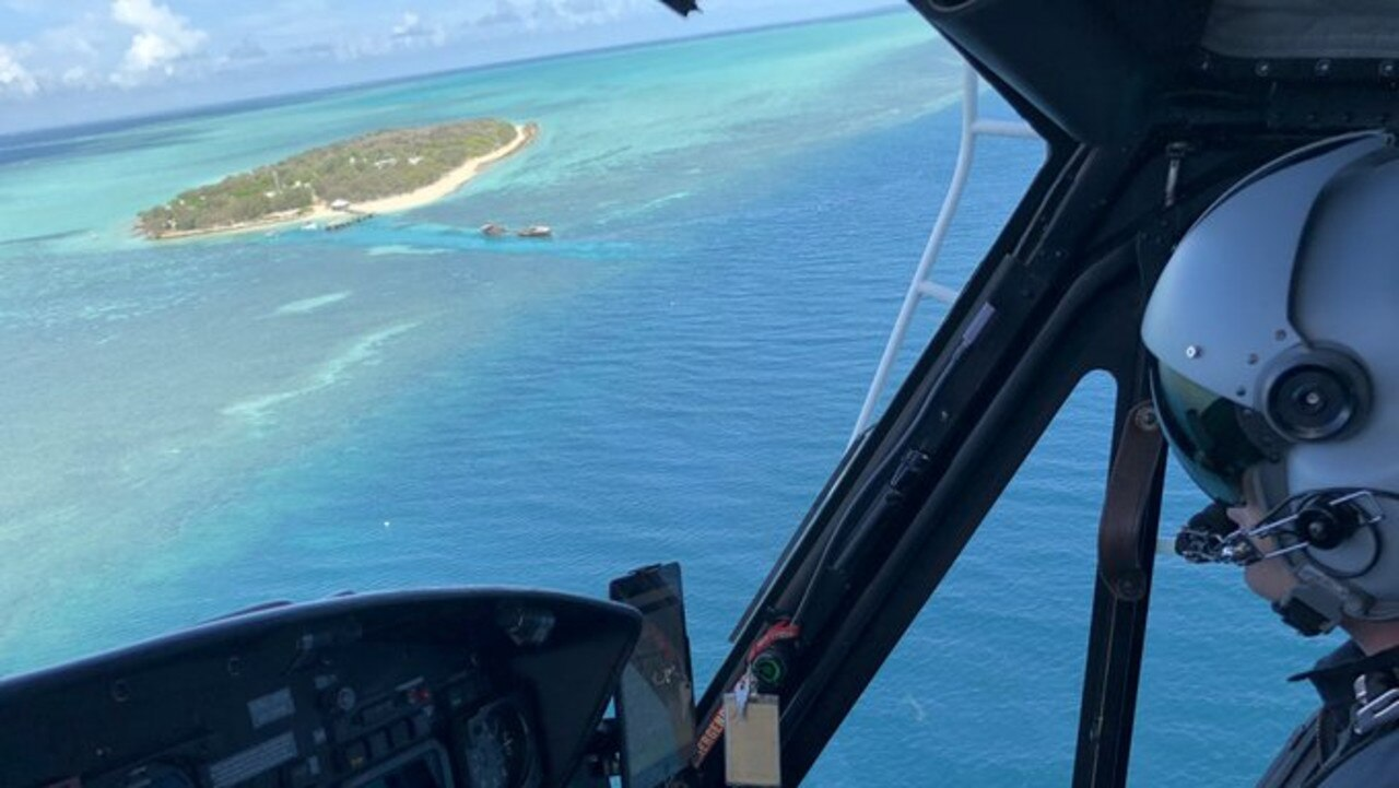 RACQ Capricorn Rescue is conducting a search and rescue mission for a person missing overboard a vessel, believed to be in the water off the Capricorn Coast. Picture: RACQ Capricorn Rescue