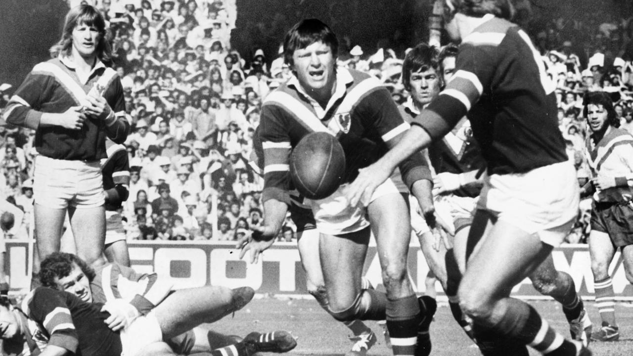 Ron Coote started the action between Easts and Souths.