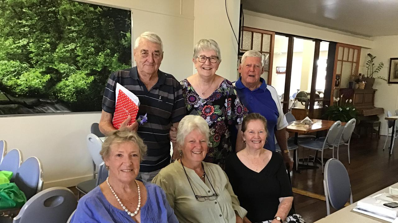The Cyclone Ada Memorial Committee has been working on Saturday's Memorial Service and Dedication for more than a year. Pictured at their last meeting are (back) Alan Garlick, Barbara Southwood and David Steen and (front) Jeannie Grosskreutz, Kaye Mee Cronan and Gloria Demartini.