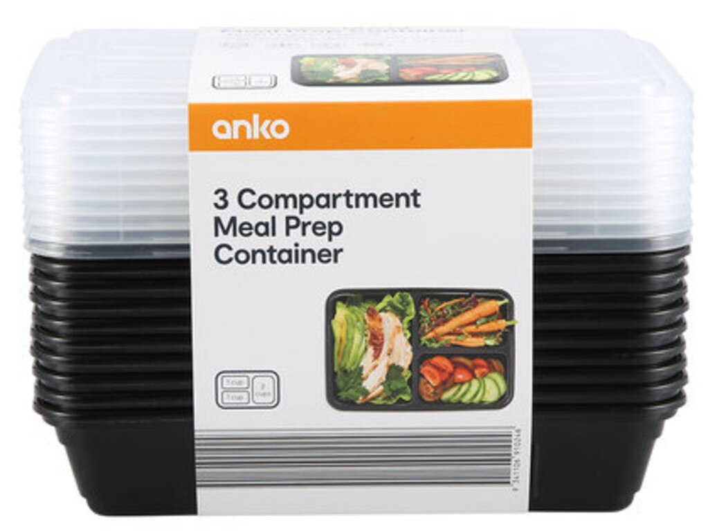 The containers are sold as a set of 10 and are BPA free, dishwasher and microwave proof. Picture: Supplied