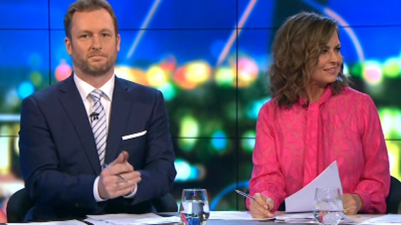 Co-hosts Peter van Onselen and Lisa Wilkinson appeared baffled by the comments. Picture: Channel 10.