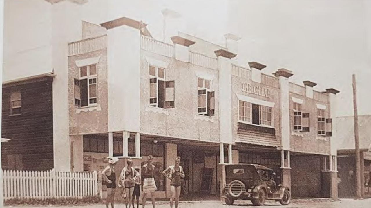 The De-Luxe Theatre at Burleigh Heads. It became the Old Burleigh Theatre Arcade.