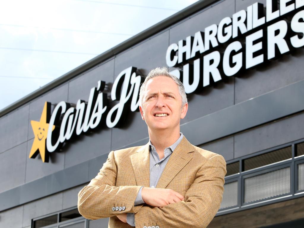 Former CKE Restaurant Holdings CEO Jason Marker. CKE owns the Carl's Jr brand. (Image AAP/Steve Pohlner)