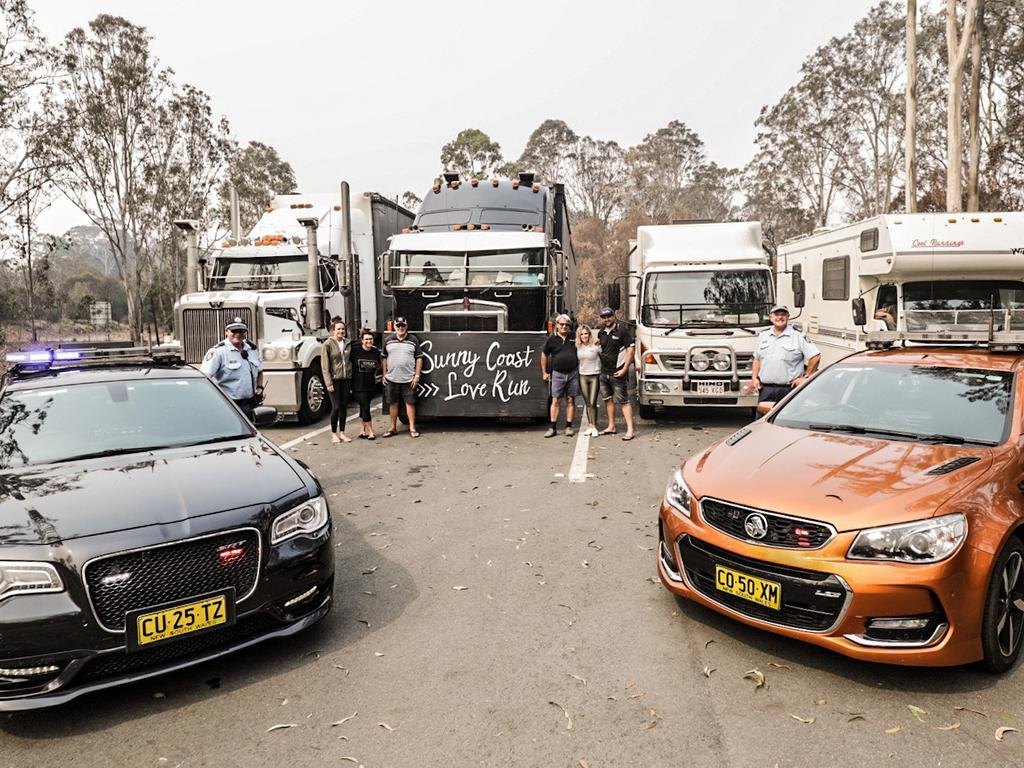 The Sunny Coast Love Run convoy was escorted by a squad from the NSW Police Force on the last leg into Cobargo at the weekend.