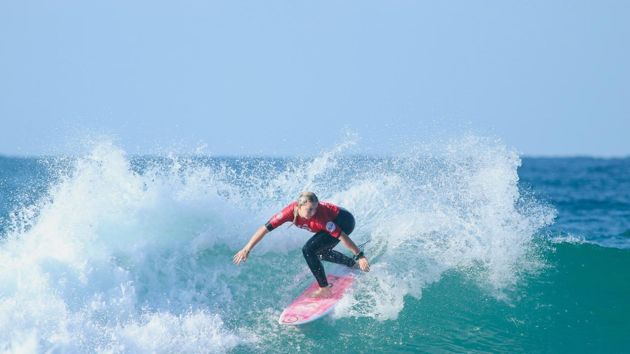 CHAMPION: Lennox Head's Nyxie Ryan, 16, is through to the quarter finals in the Rip Curl GromSearch National Final at Sandon Point in NSW. File Photo.