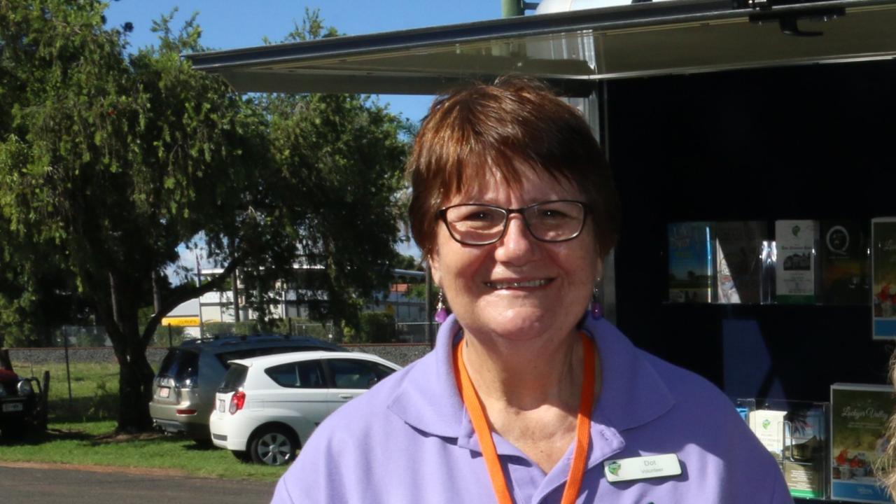 RELIEF FUNDING: Glenore Grove QCWA secretary Dorothy Windolf.