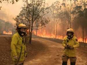 Young Queenslanders suffer from bushfire images