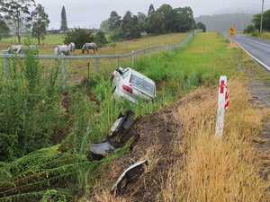 Coramba Road wet weather crash