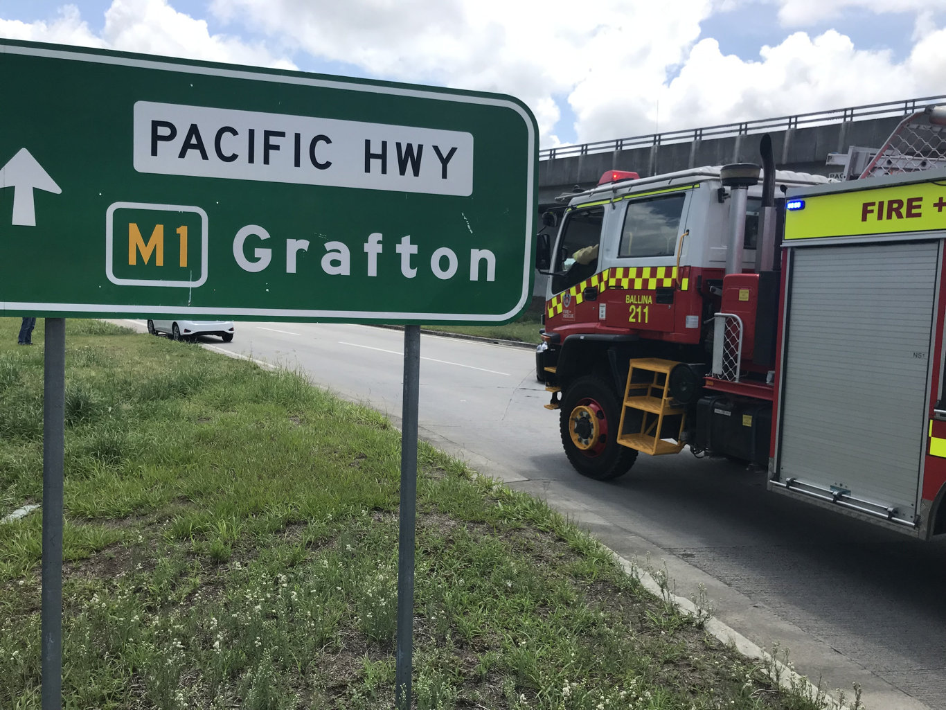 There has been a serious crash on the Pacific Highway at West Ballina.