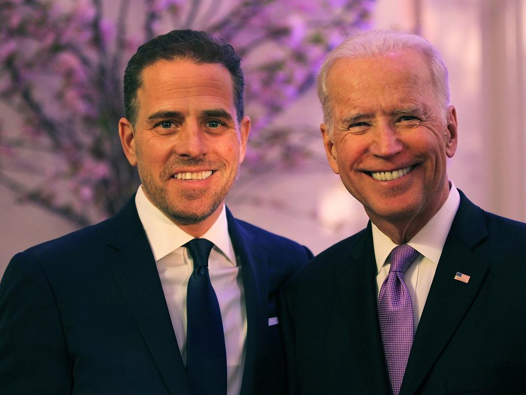 Republicans want to subpoena Joe Biden and his son, Hunter, who served on the board of a gas company in Ukraine, Burisma, while his father was vice-president. Picture: Getty