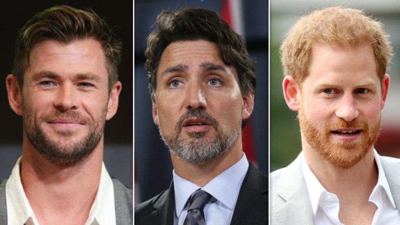 Chris Hemsworth, Justin Trudeau and Prince Harry.