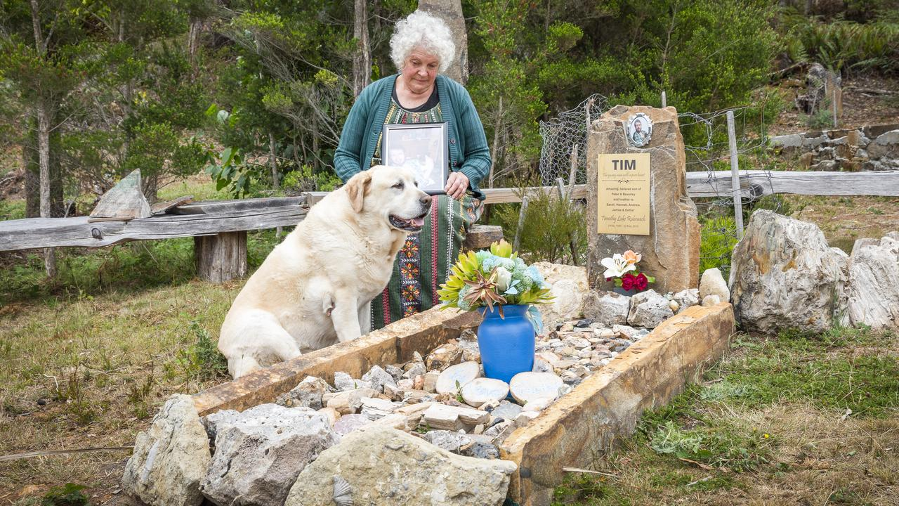 NDIS WAIT: Beverley Rubenach's visiting her son Tim Rubenach's grave who died while on the wait list for help from the NDIS. Picture: Wolfgang Glowacki