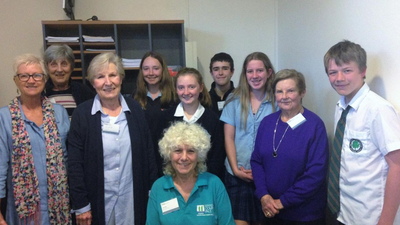 Manly Computer Pals president Judy Elias with Be Connected Young Mentors Program participants.