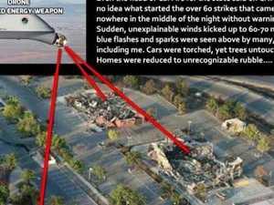 Bizarre 'train' conspiracy behind Australian bushfires