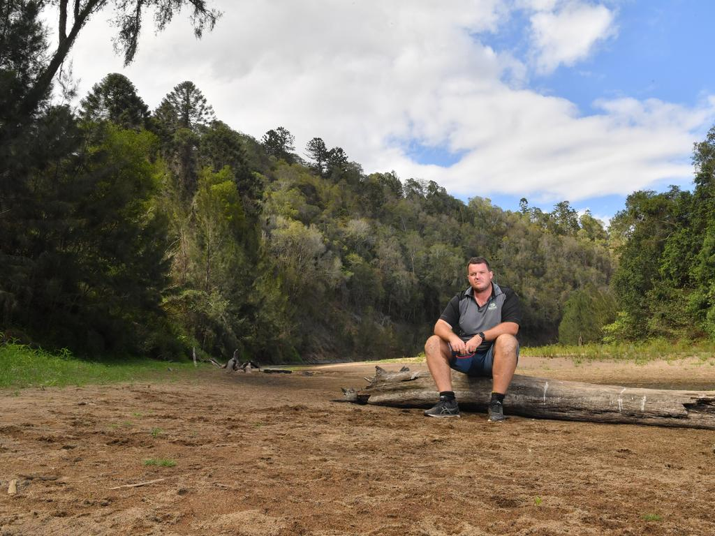 Bluff Creek Campground manager Lucas Johnson said bookings were down by at least 15 per cent due to the low river levels. Photo: John McCutcheon