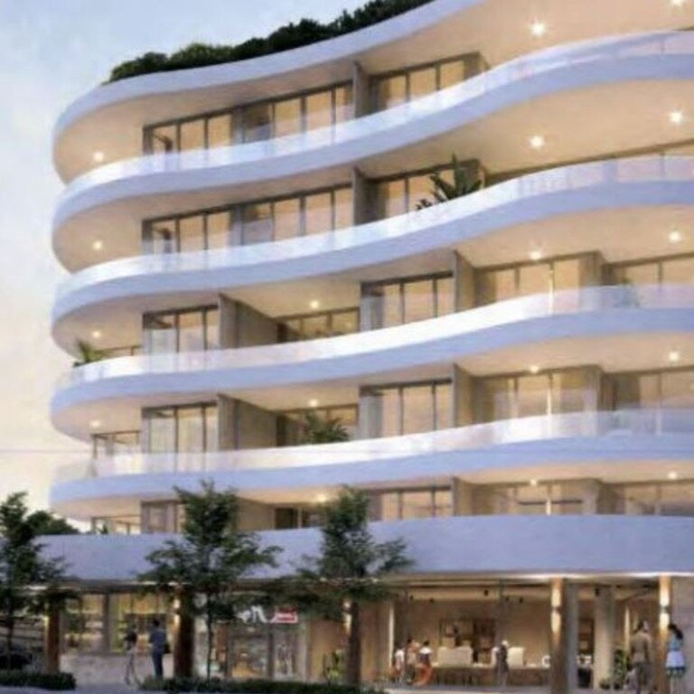 An artist impression of the proposed seven-storey apartment building.