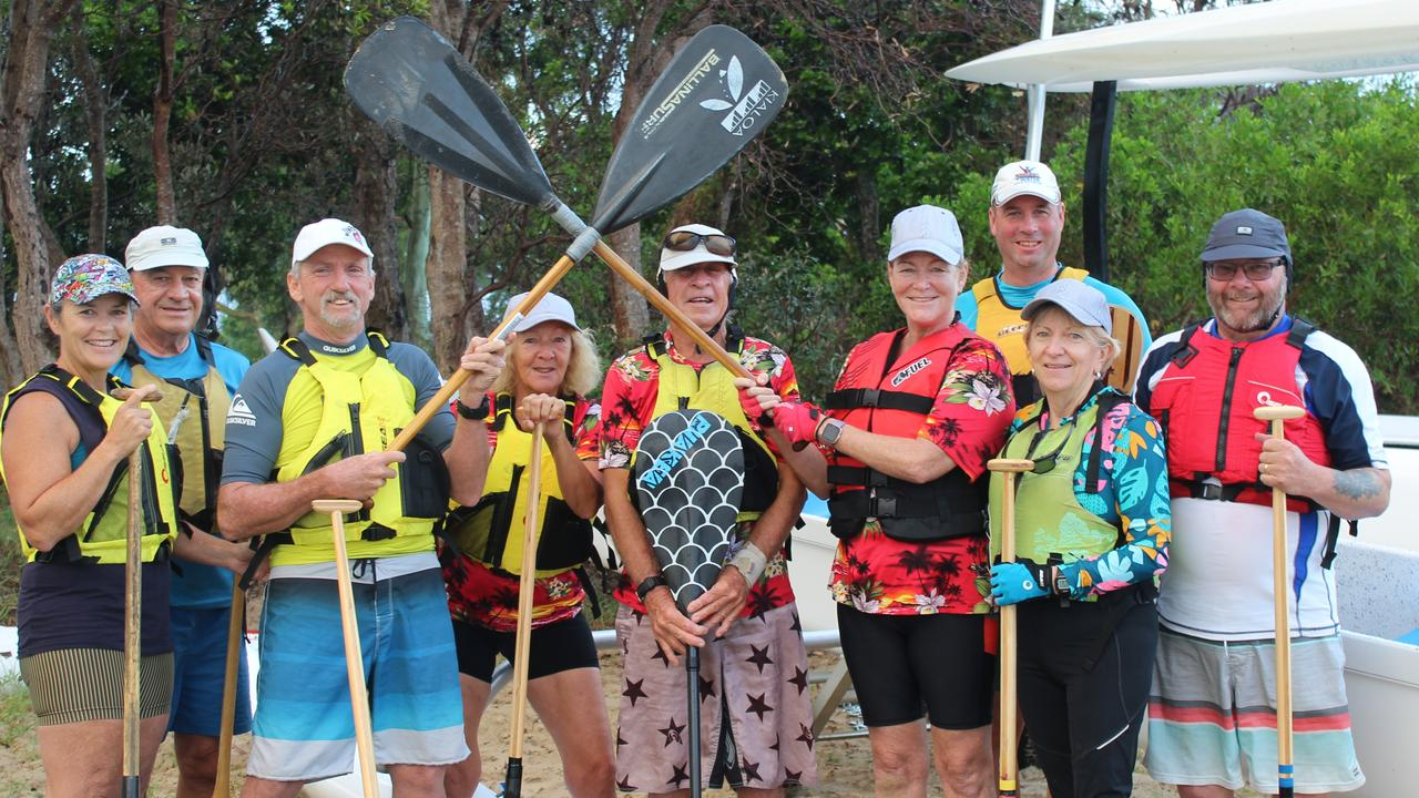 TEAM: Members of the Ballina Outrigger Canoe Club at their regular paddle this week.