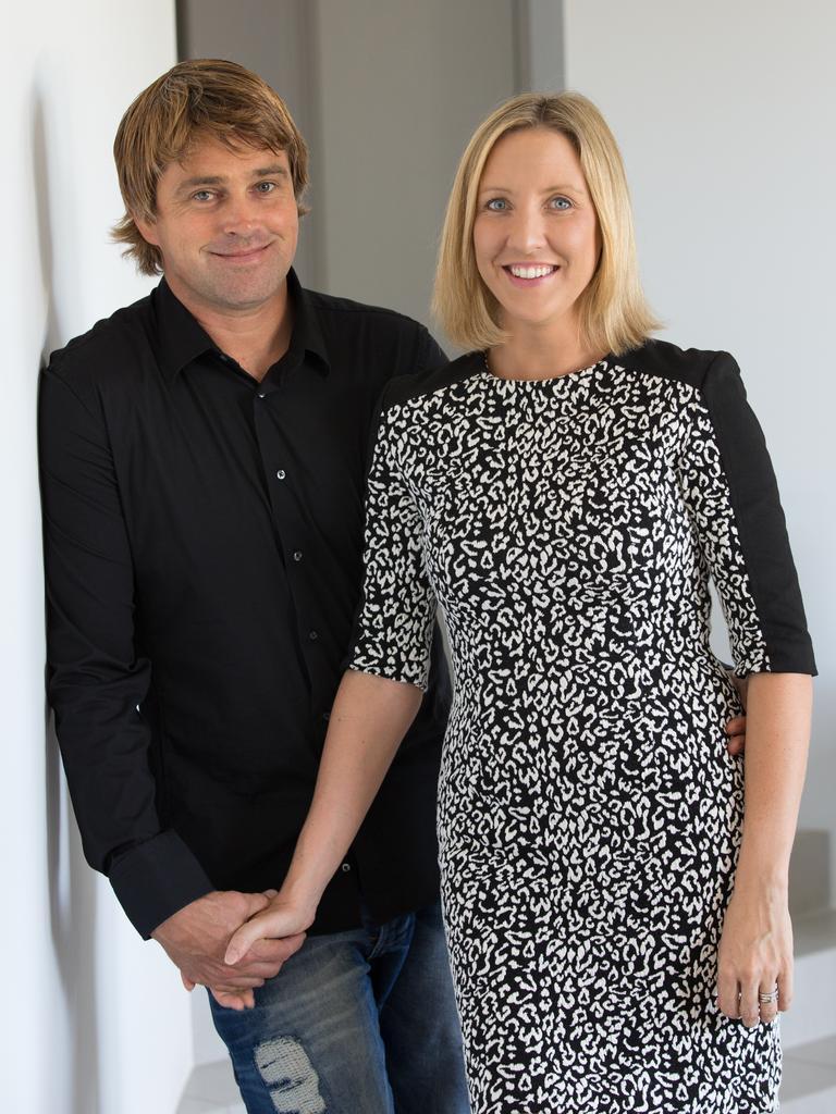 SHOES: Noosa shoe brand holster founders Ben Nothling and Natalie Miller.