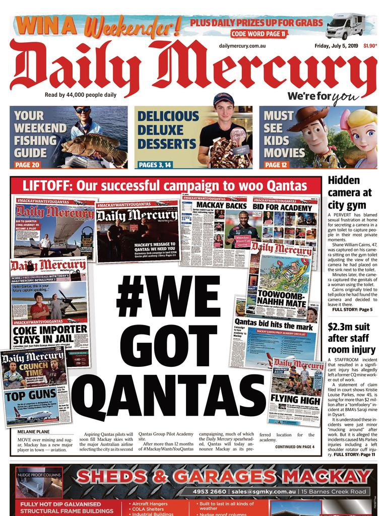 Daily Mercury front page July 5, 2019.