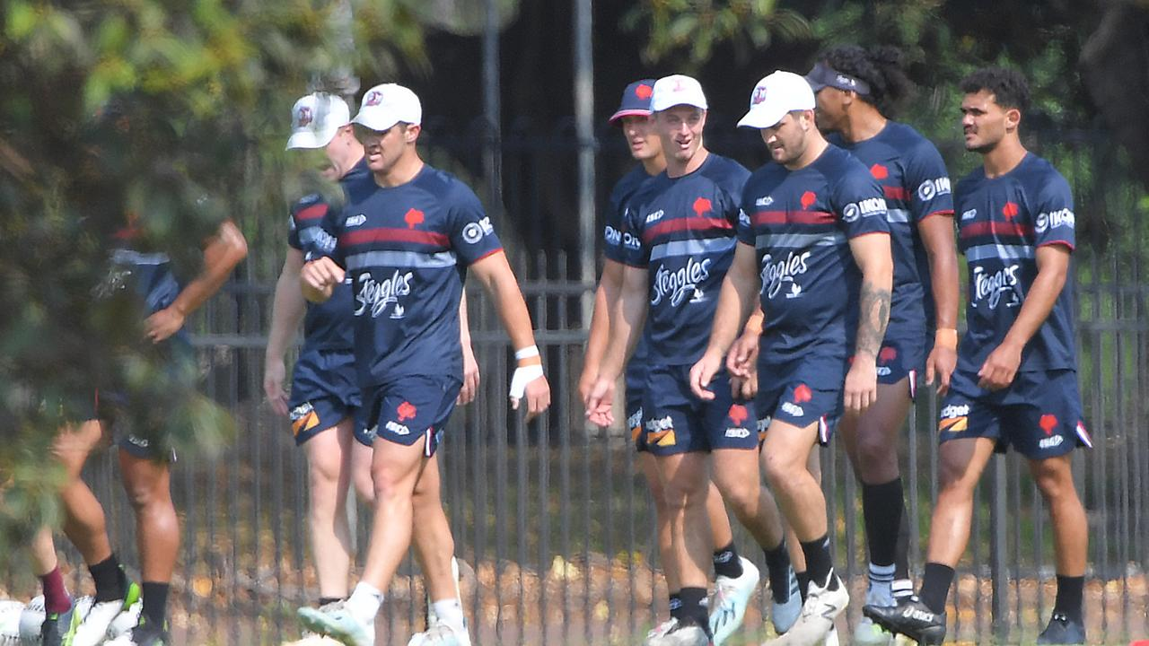Roosters training at Moore Park. Picture: DAILY TELEGRAPH/Simon Bullard