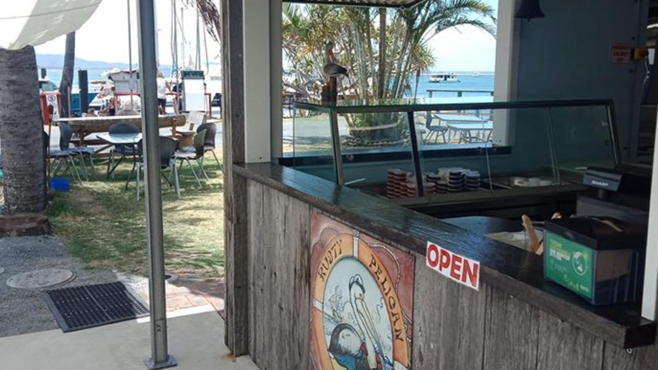 NOW OPEN: The Rusty Pelican is the newest Fish and Chip shop at Seventeen Seventy and was made from materials from the old pontoon.