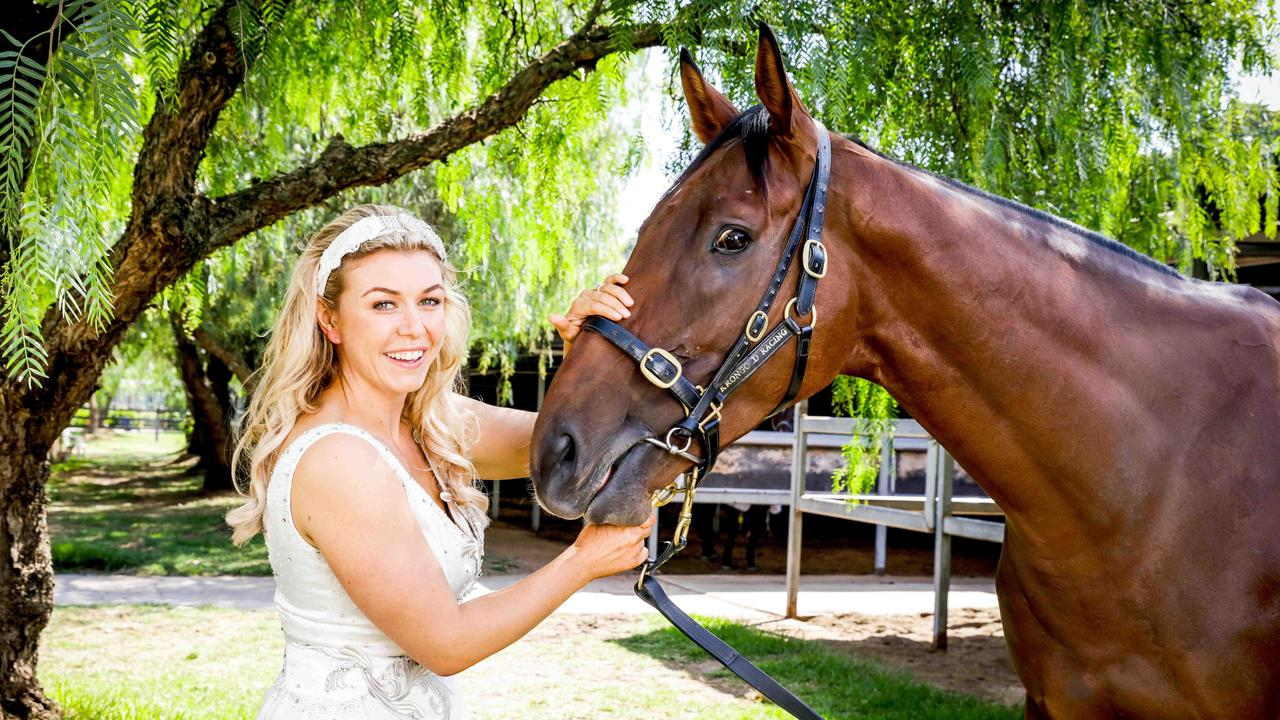 All-Star Mile contender, Man of His Word, with his owner ambassador Hanna Bellew. Pic: Nicole Cleary